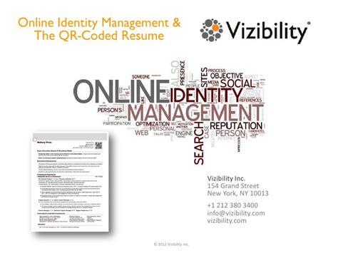 identity management system resume identity management the qr coded resume
