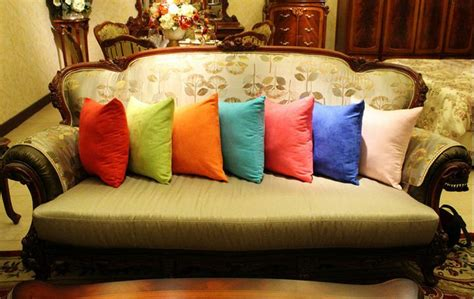 where to buy sofa pillows aliexpress com buy solid color sofa throw pillows purple