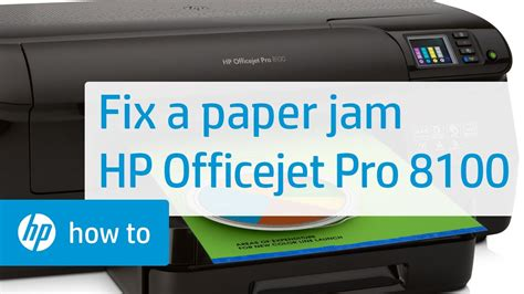 It shows all these functions without interrupting each other. Fixing a Paper Jam on the HP Officejet Pro 8100 | HP OfficeJet | HP - YouTube