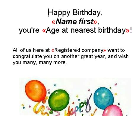 birthday reminder letter templates