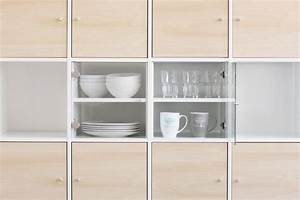 Regal Ikea Küche : vitrineneinsatz mit glast r f r ikea regal kallax birke k che haushalt pimp up ~ Markanthonyermac.com Haus und Dekorationen
