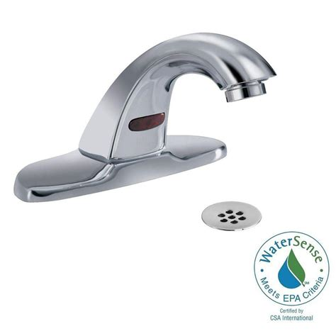 Kitchen Faucet Touchless Delta by Delta Commercial Battery Powered Single Touchless