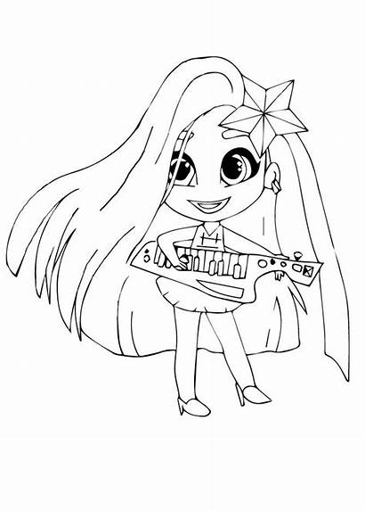Hairdorables Coloring Pages Harmony Colouring раскраски Guitar