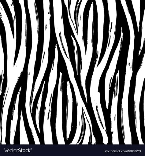 Zebra Print Background Zebra Print Background Pattern Black And White Vector Image