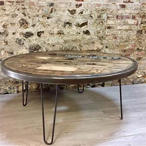 Table Basse Ronde Industrielle : table basse metallique maison design ~ Teatrodelosmanantiales.com Idées de Décoration