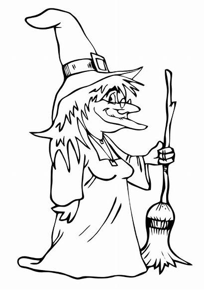 Witch Coloring Pages Cartoon