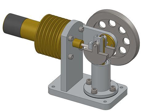 Stirling engine бесплатная 3d модель .sldasm .sldprt free3d