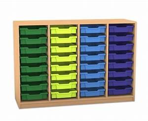 Regal Mit Boxen : flexeo regal pro mit 4 reihen und 32 kleinen boxen ~ Orissabook.com Haus und Dekorationen
