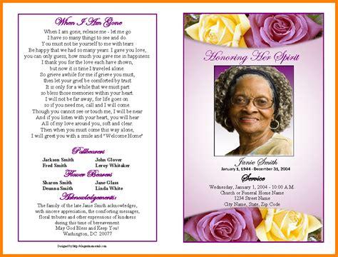 free obituary program template 5 free obituary program template language literature