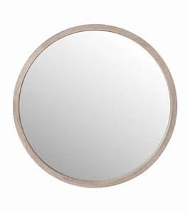 Rond En Bois : miroir rond en bois blanchi diam tre 45cm ~ Teatrodelosmanantiales.com Idées de Décoration