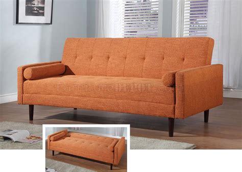 Orange Contemporary Sofa by Orange Fabric Contemporary Sofa Bed