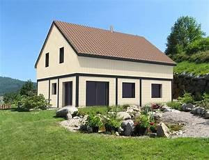 maison a ossature bois et bardage canexel beige nos With maison ossature bois inconvenients