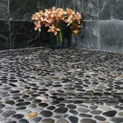 river floor bathroom pebble stone natural river rock bath ideas juxtapost
