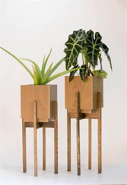 Plant Stand Mid Century Pot Indoor Planter