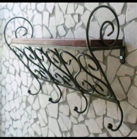 mensola portaspezie mensola rustica arte povera in ferro battuto legno cucina