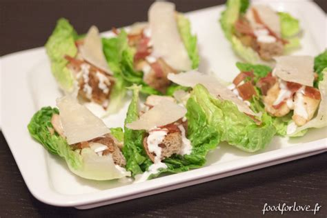 Barquettes façon Salade César   Food for Love