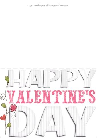 happy valentines day card template  printable