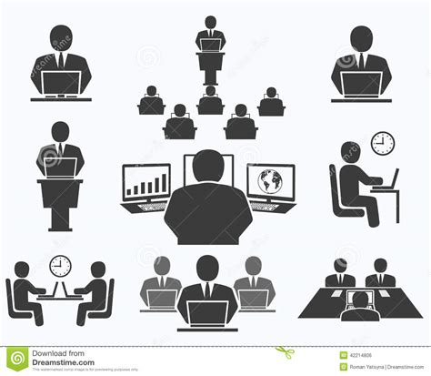 affaires de bureau gens d 39 affaires icônes de bureau conférence travail d