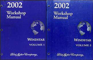 car repair manuals online pdf 2002 ford windstar lane departure warning 2002 ford windstar repair shop manual 2 volume set original