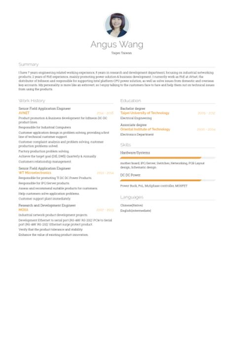 application engineer resume sles visualcv resume
