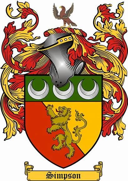 Arms Simpson Coat Coats Crests History Arm