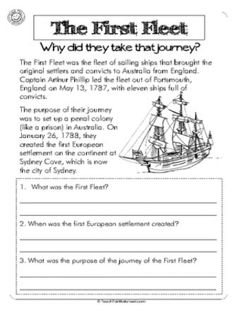 year 4 history worksheets australia first fleet year 4 activities letter home google search