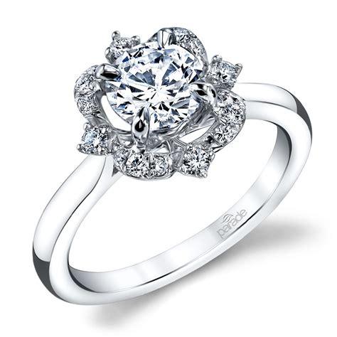 vintage artistic halo diamond engagement ring  white