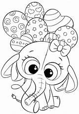Coloring Pages Cuties Cute Bojanke Elephant Preschool Printables Animal Balloons Unicorn Animals Colouring Books Slatkice Print Kindergarten Printable Sheets Za sketch template