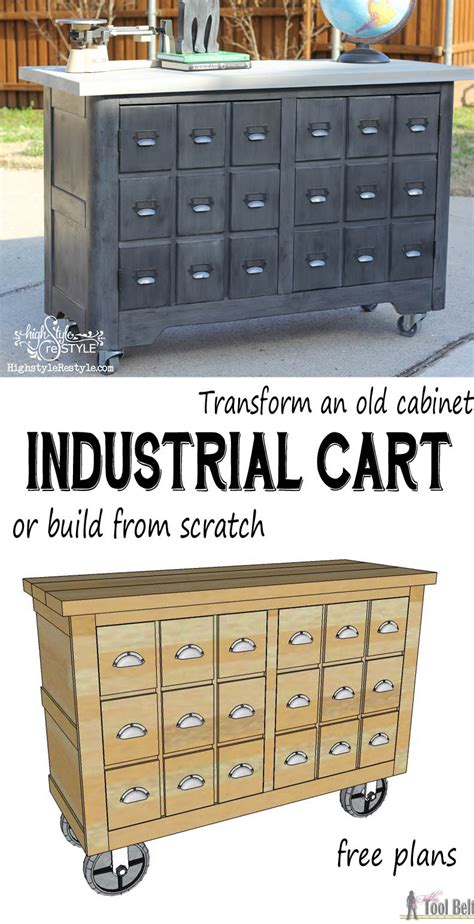 industrial cart apothecary cabinet  tool belt