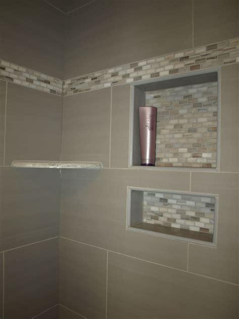 Bathroom Tile Shelf by Bianco Granite Corner Shelf And Custom Tile Recessed
