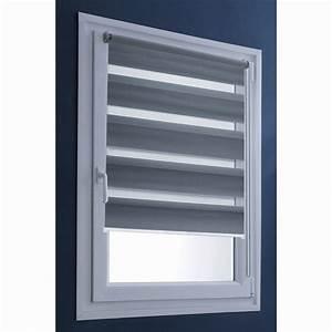 Rideaux à Poser Sur Fenêtres : store enrouleur jour nuit gris anthracite 55 x 100 cm ~ Premium-room.com Idées de Décoration