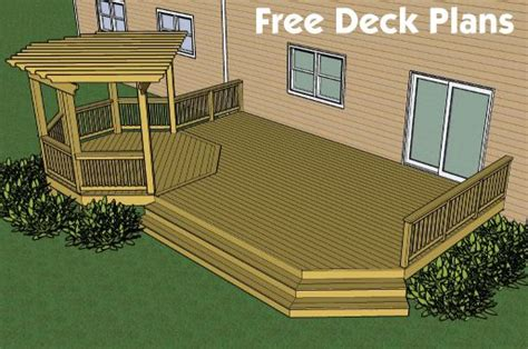 deck designs and plans decks free plans builders
