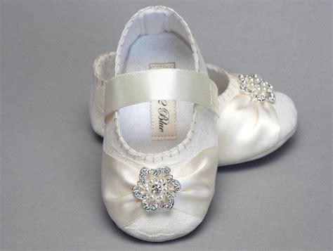 baby girl shoe caroline wedding flower girl  pinkblue