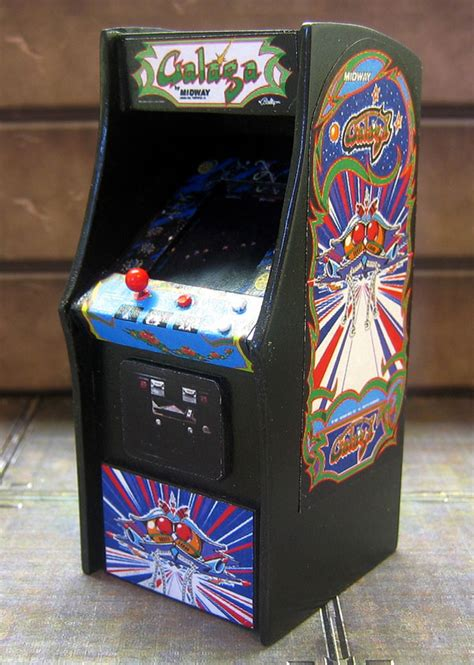 Galaga Arcade Machine by Amazingly Detailed Mini Arcade Cabinets For