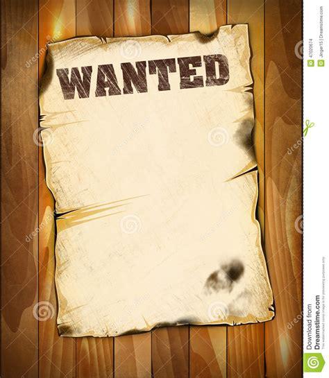 wanted poster empty stock illustration illustration