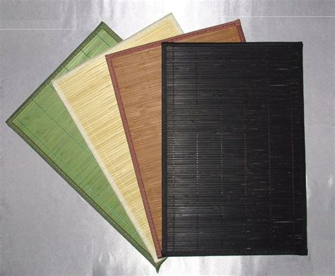 Bamboo Table Placemats Many Colors Dining Ebay