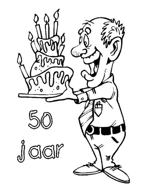 Kleurplaat Papa 50 Jaar by Opa En Oma Kleurplaten Abraham 50 Jaar