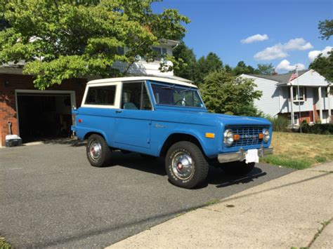 bronco colors classic 1976 bronco restored in original colors blue with