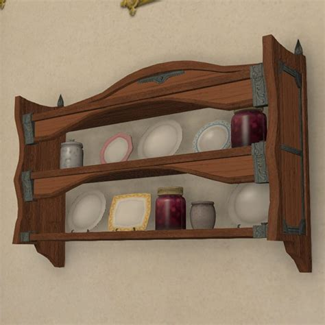 mounted plate rack ffxiv housing wall mounted
