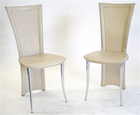 modern italian quia dining chairs metal frame leather
