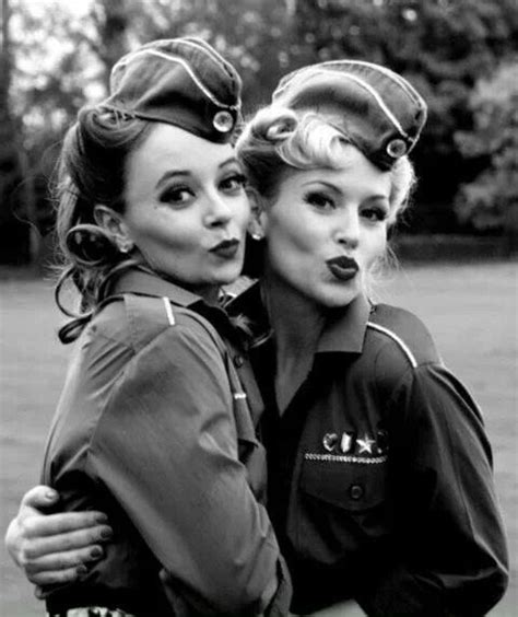 world war 2 the women still had it they wore army clothes had their hair curved perfectly