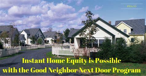 next door program 2018 instant home equity is possible with the