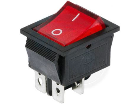 button on 4 pin dpst boat rocker switch 16a 250v