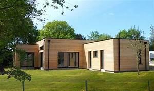 Prix Maison En Bois En Kit : maison bois en kit toit plat moderne 2 chambres terrasse ~ Nature-et-papiers.com Idées de Décoration