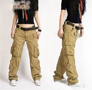 Fashion Style Autumn Summer Hip Hop Loose Pants Jeans Baggy Cargo Pants For Women Girls Free ...