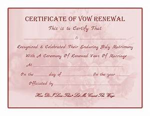 free printable vow renewal certificate all things With vow renewal certificate template