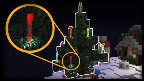 Minecraft  How To Make Working Christmas Tree Lights
