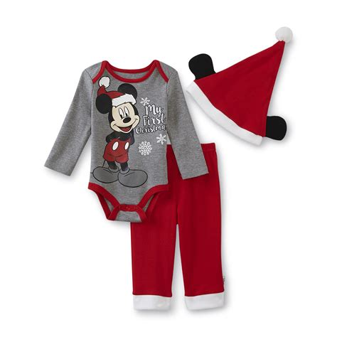 Disney Mickey Mouse Newborn Boy's Outfit - My First Christmas
