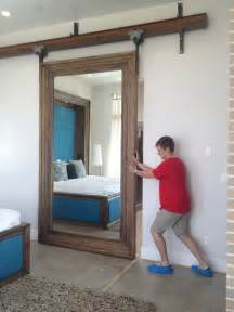 interior sliding barn doors for homes mirrored quot barn quot door for our master closet house
