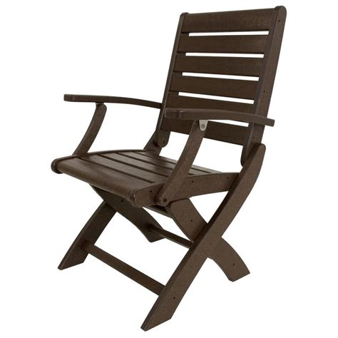 home depot folding cing chairs polywood vineyard mahogany 3 patio garden chair set